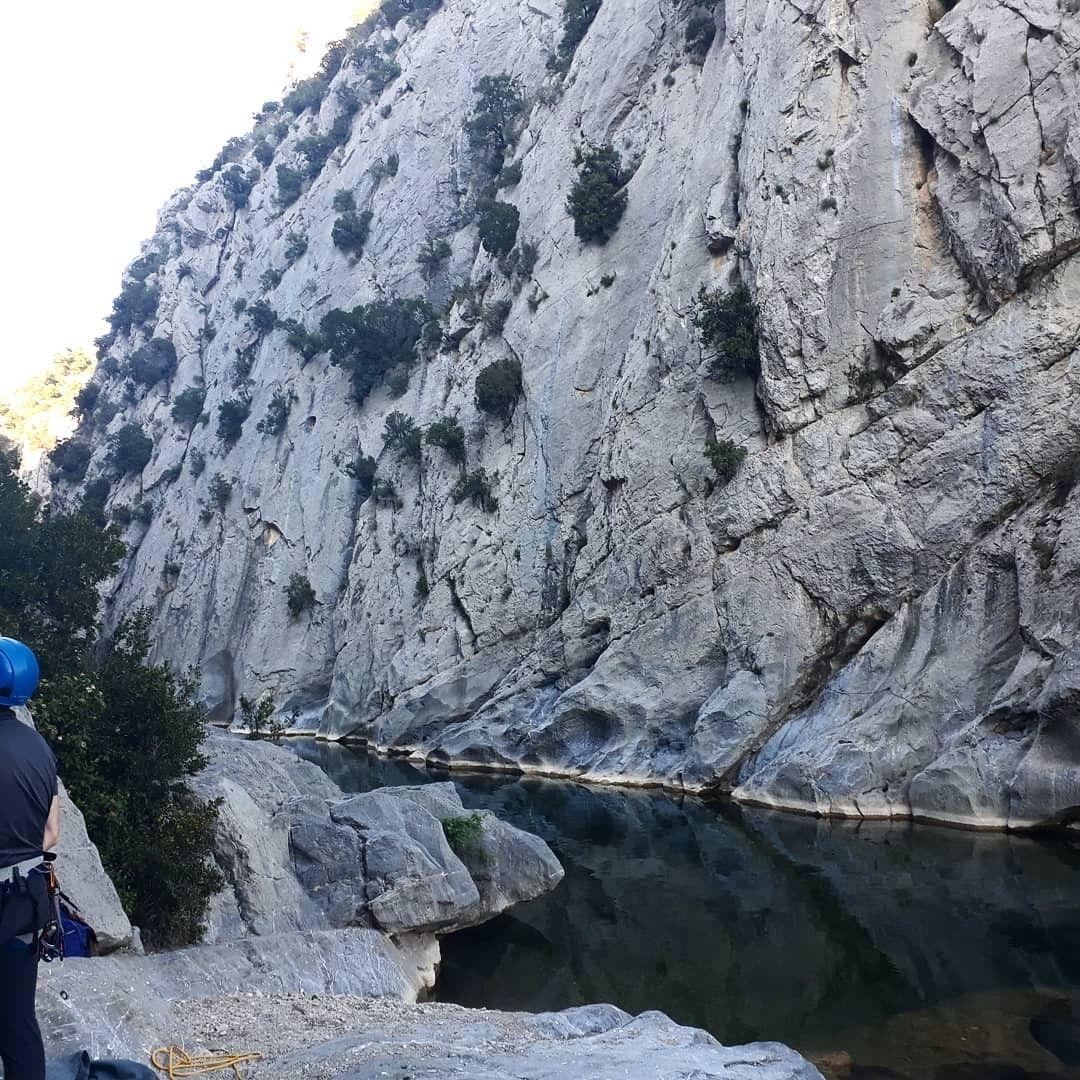 Dimanche au Gouleyrous pour les adultes du CAF Prades Canigo !  Le spot, Languedoc-Roussillon, France